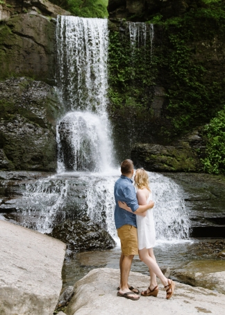 Syracuse NY Waterfall Engagement Session B.Fotographic103