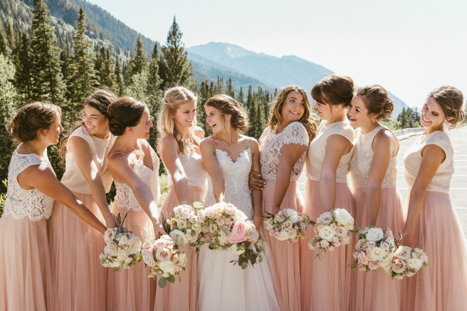 Bridesmaids Wedding Dresses Anthropology Mountains Utah Photographer B.Fotographic1