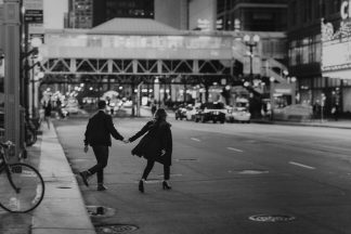 Chicago Destination Engagement Wedding Photographer Nighttime Bridget Florack 90-2