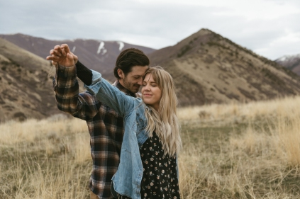 Hannah and Bryce in the Mountains of Utah by Bridget Marie Photography
