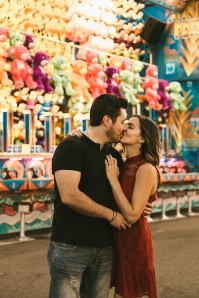 Marisa and Eric took engagement photos at the NY Sate Fair. Photography by Bridget Marie